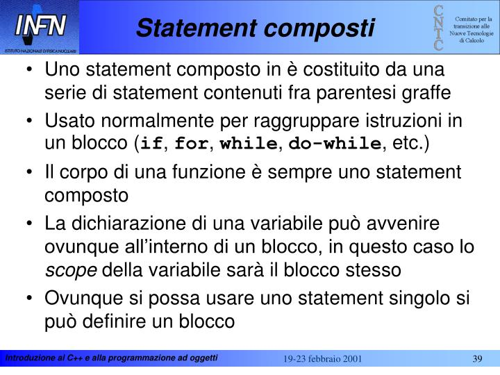 Statement composti