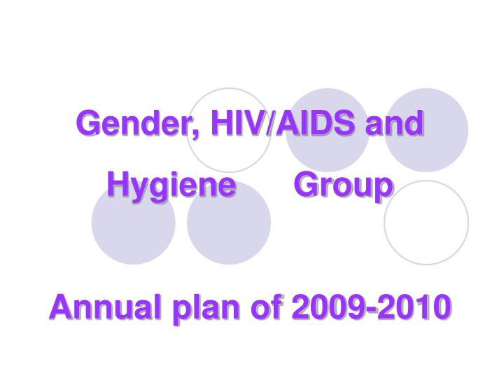 Gender, HIV/AIDS and