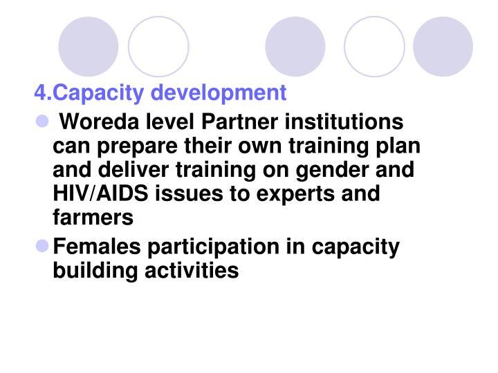 4.Capacity development