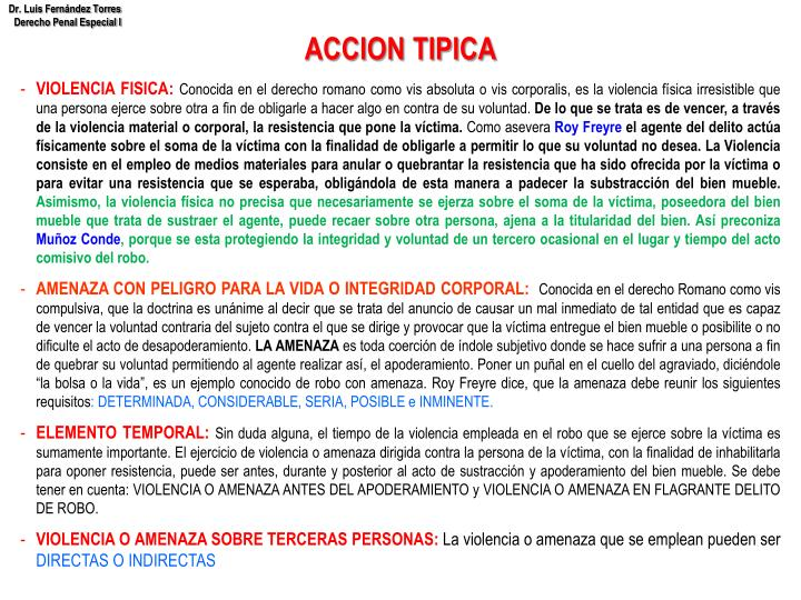 ACCION TIPICA