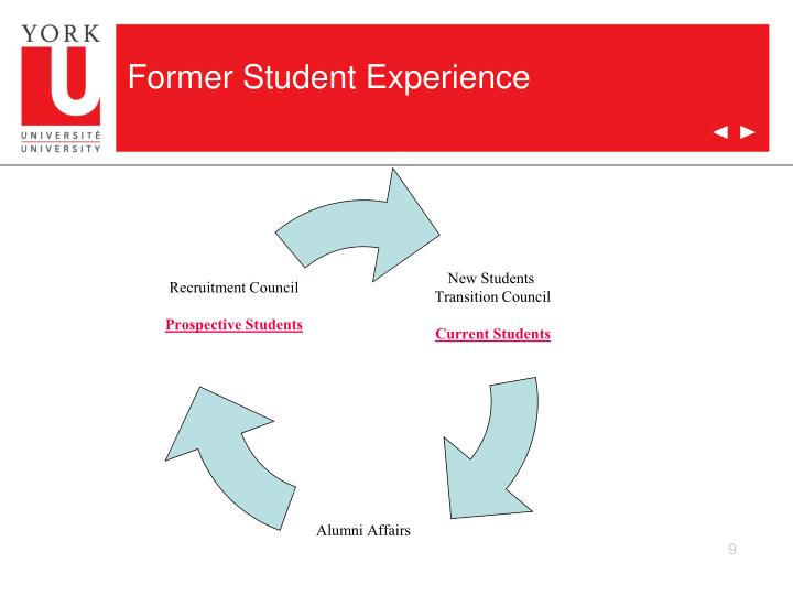 Former Student Experience