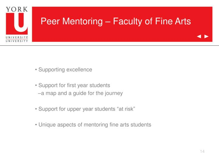Peer Mentoring – Faculty of Fine Arts