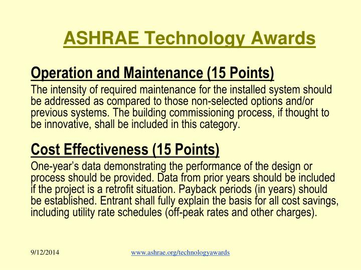 ASHRAE Technology Awards