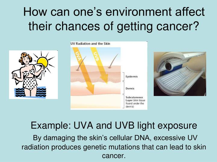 How can one's environment affect their chances of getting cancer?