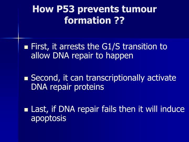 How P53 prevents tumour
