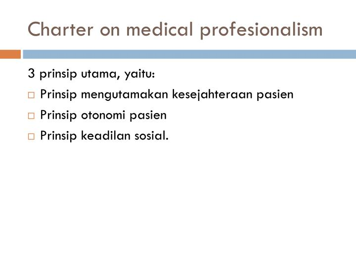 Charter on medical
