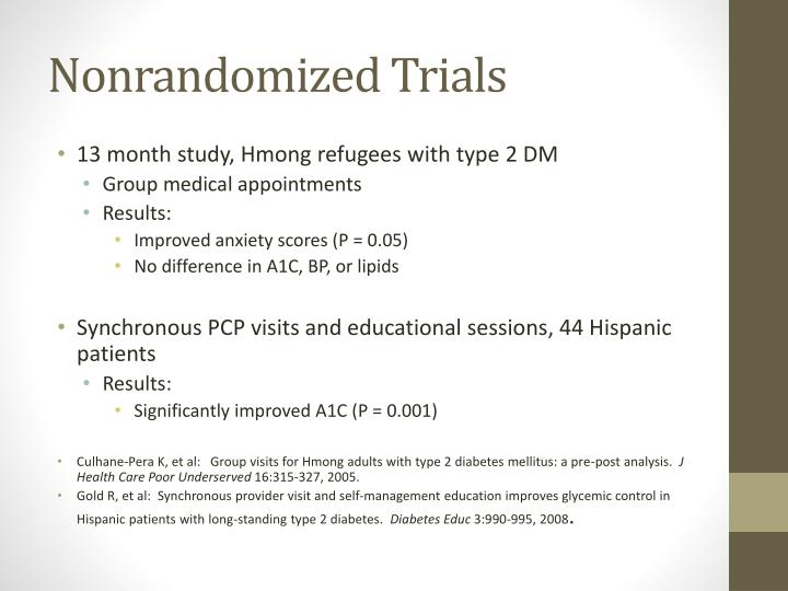 Nonrandomized Trials