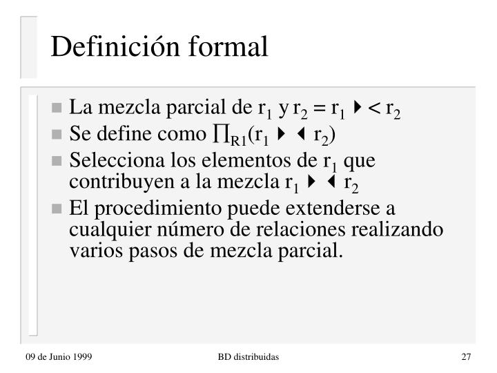 Definición formal