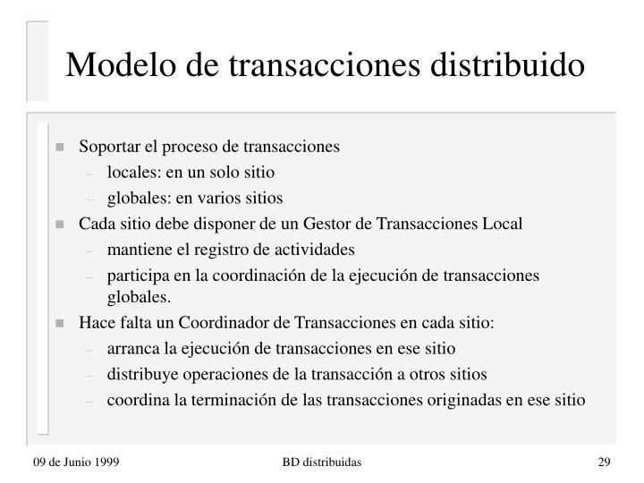 Modelo de transacciones distribuido
