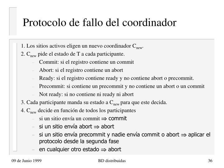 Protocolo de fallo del coordinador