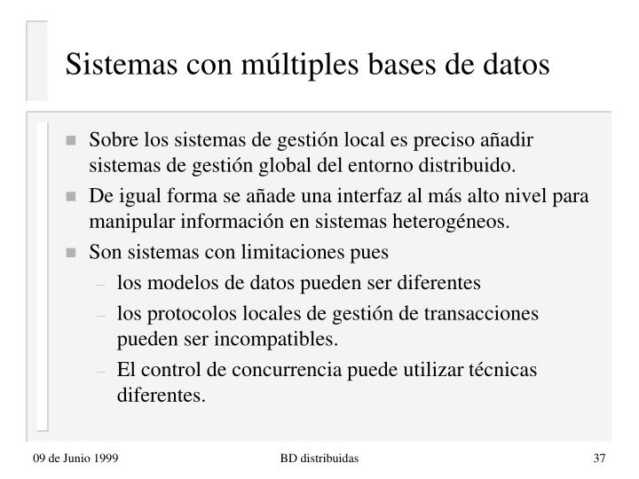 Sistemas con múltiples bases de datos