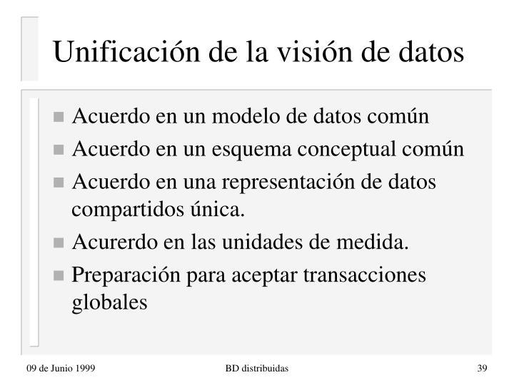 Unificación de la visión de datos