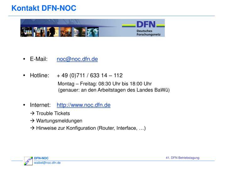 Kontakt DFN-NOC