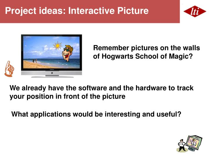 Project ideas: Interactive Picture