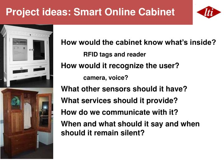 Project ideas: Smart Online Cabinet