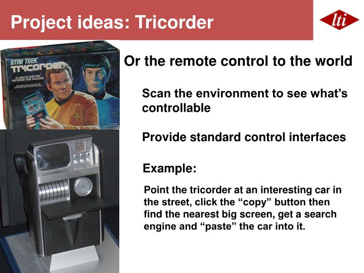 Project ideas: Tricorder