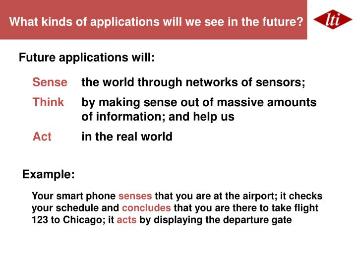 What kinds of applications will we see in the future?