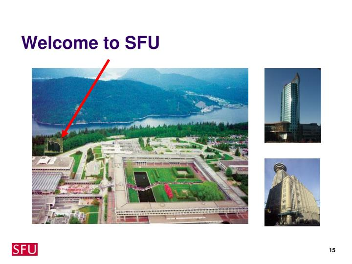 Welcome to SFU