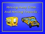 moving away from