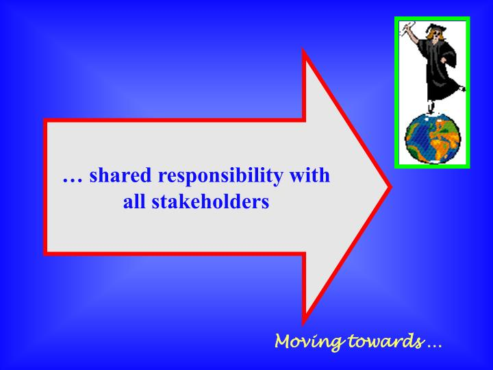 … shared responsibility with