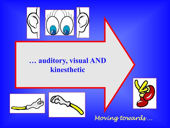 … auditory, visual AND