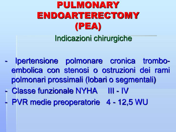 PULMONARY ENDOARTERECTOMY