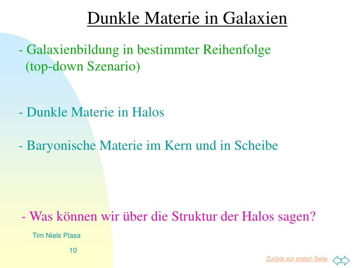 Dunkle Materie in Galaxien