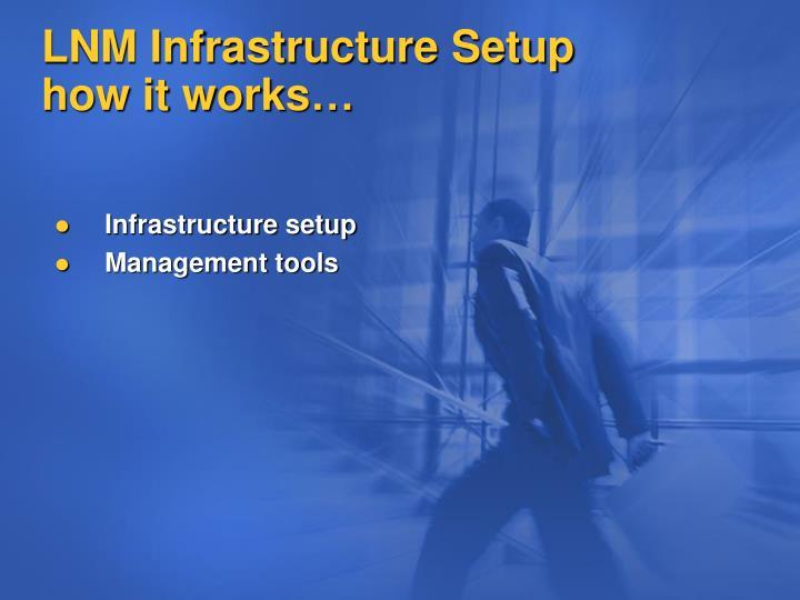 LNM Infrastructure Setup