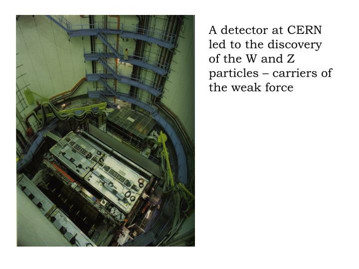 A detector at CERN