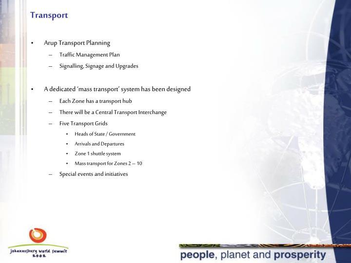 Arup Transport Planning