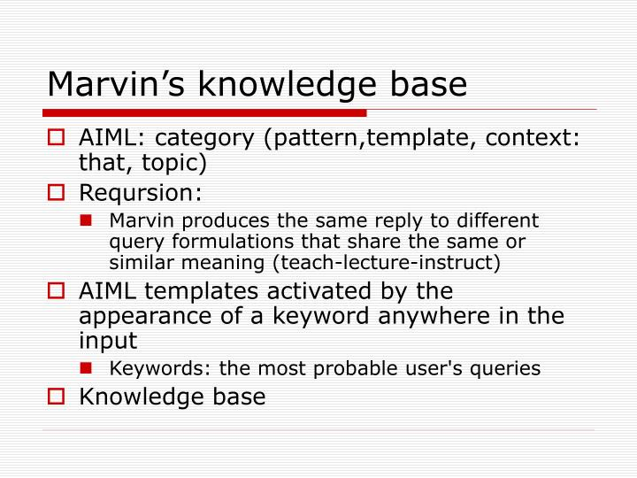 Marvin's knowledge base