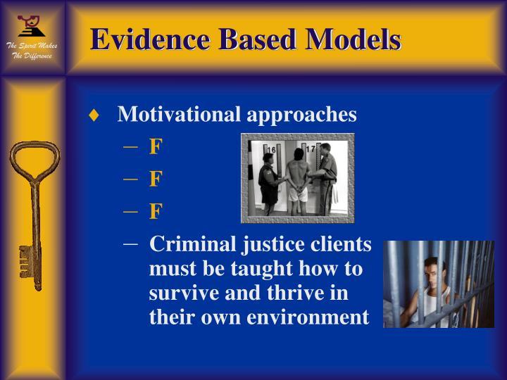 Evidence Based Models