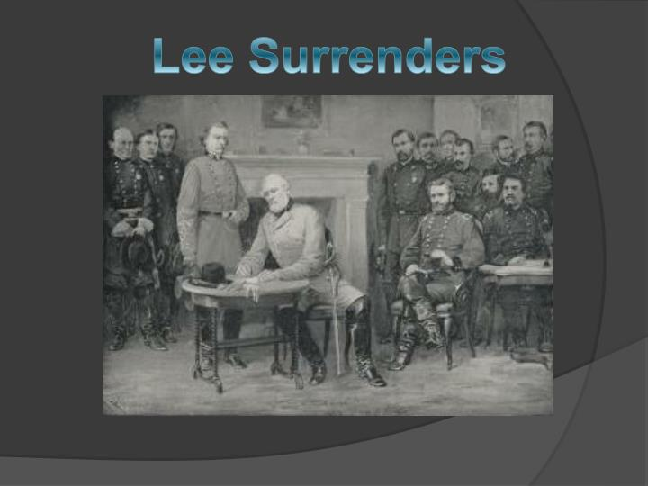 Lee Surrenders