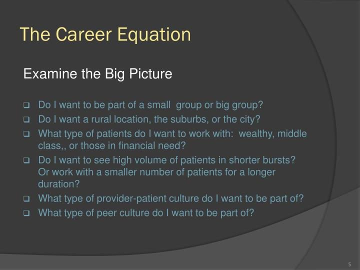 The Career Equation