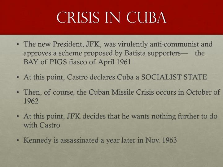 Crisis in Cuba