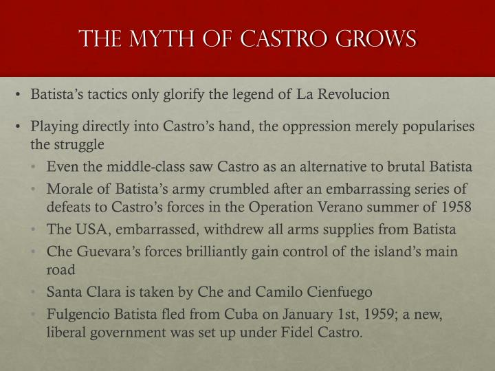 The Myth of Castro Grows