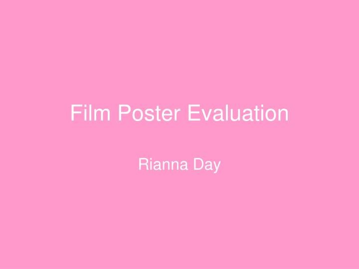 Film poster evaluation