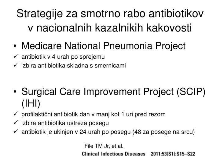 Strategije za smotrno rabo antibiotikov v nacionalnih kazalnikih kakovosti