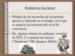 amnesia lacunar