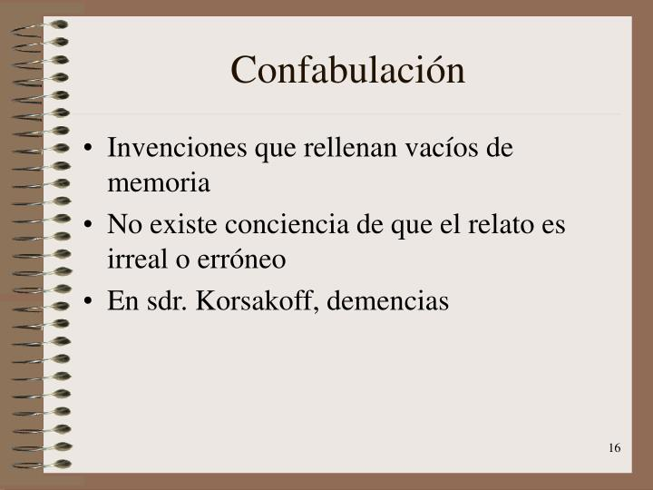 Confabulación