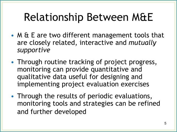 Relationship Between M&E
