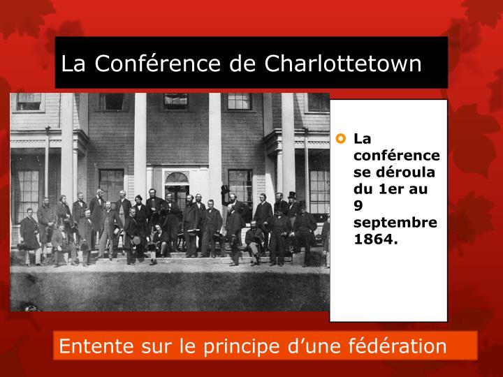 La Conférence de Charlottetown