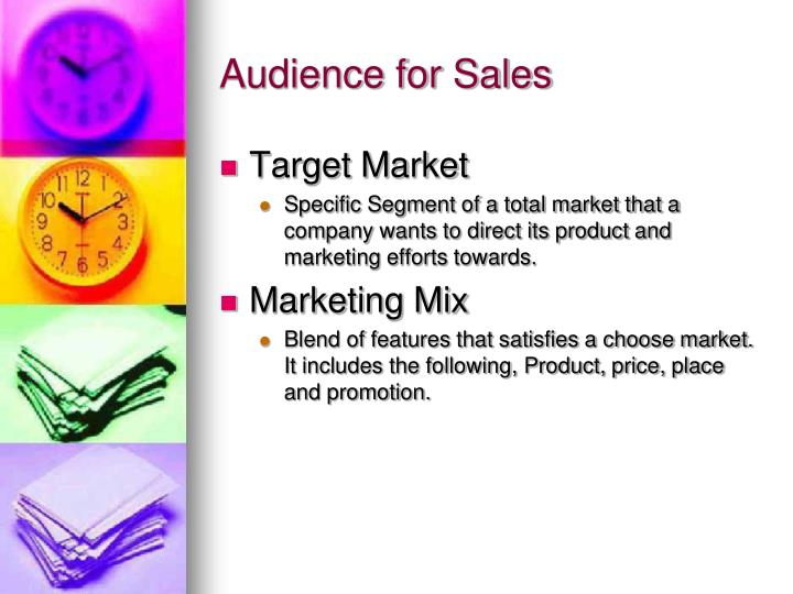 Audience for Sales