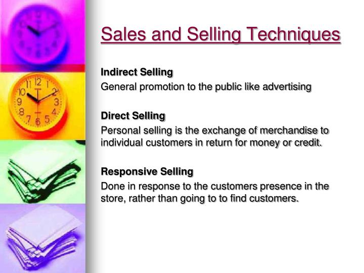 Sales and Selling Techniques