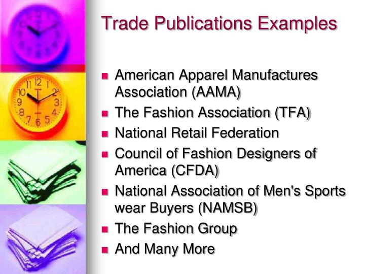 Trade Publications Examples