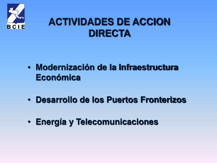 Modernización de la Infraestructura Económica