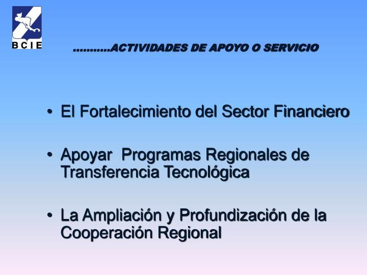 El Fortalecimiento del Sector Financiero