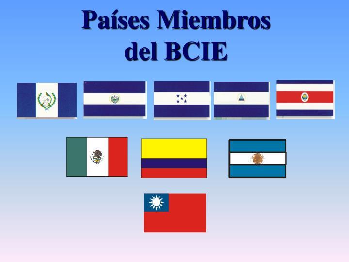 Países Miembros del BCIE