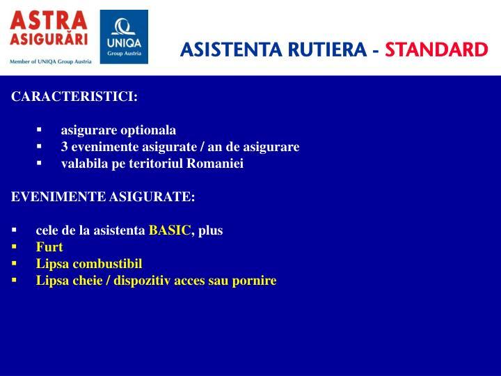 ASISTENTA RUTIERA -