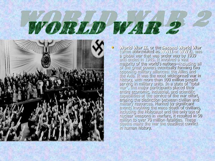 World WarII